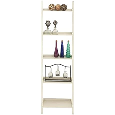 Deco 79 Wood Leaning Shelf 20 By 69 Inch Antique White