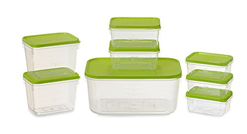All Time Plastics Polka Container Set, Set of 8, Green