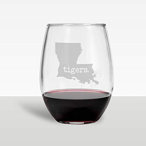 LSU Wine Glass Tigers Wine Glass Wine Glass LSU Gift Wine Glasses -