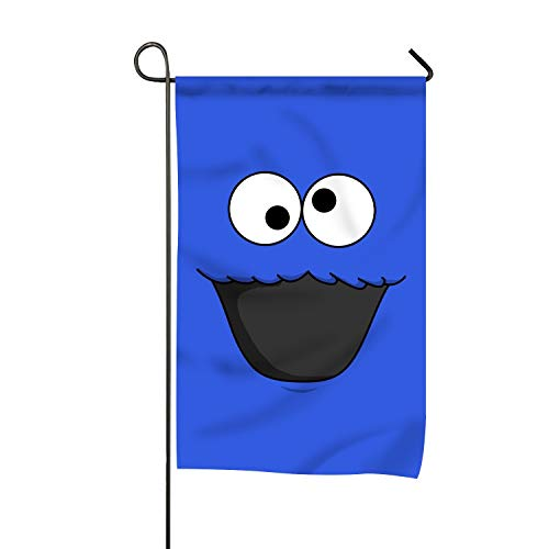 LISPLA Cute Cookie Monster Welcom Decorative Season Double Sided Garden Flag - for Garden,Yard,Home ()