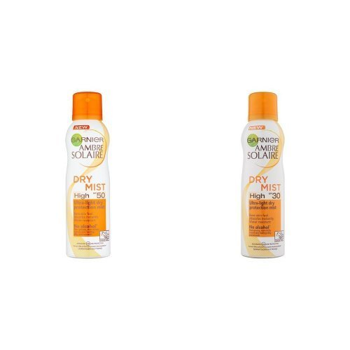 Garnier Ambre Solaire Protection Mist SPF50 200ml and Garnier Ambre Solaire Protection Mist SPF30 200ml Duo Set