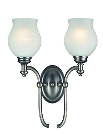 Hollywood 2 Light Wall Sconce Finish: Antique Pewter - 2s Ap