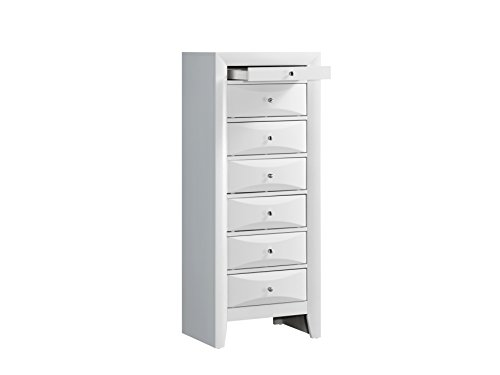 Glory Furniture G1570-LC 7 Drawer Lingerie Chest White ()