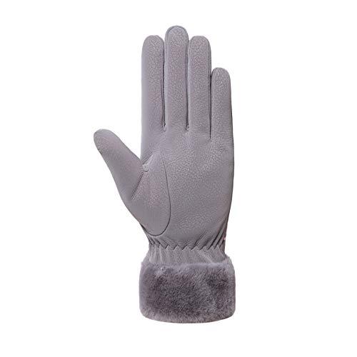 Clacce Handschuhe Damen, Winter Handschuhe Warme, Touchscreen Handschuhe, Fahrradhandschuhe, Winddicht Laufhandschuhe, Künstliches Wildleder Handschuhe