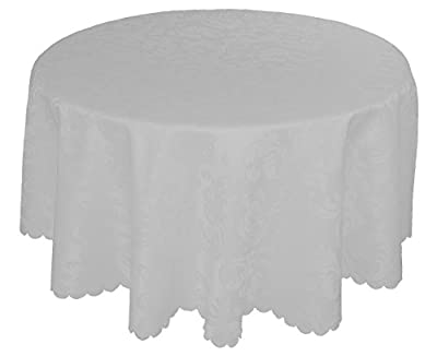 EcoSol Designs Microfiber Damask Swirls Tablecloth, Wrinkle-Free & Stain Resistant