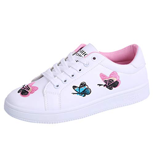 Baiggooswt Fashion Women's Straps Sports Running Sneakers Butterfly Lace-up Embroidery Flower Street Beat Spring Summer Autumn Shoes - Womens Quilted Stadium Jacket