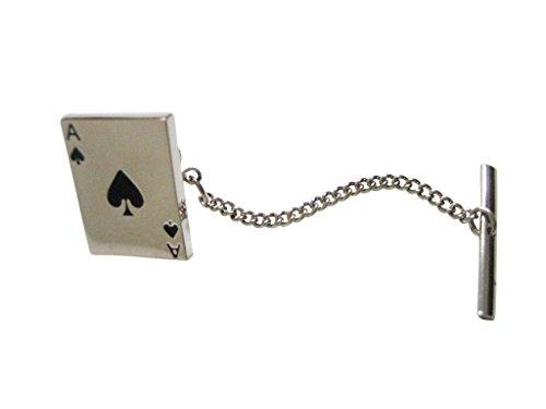 Shiny Ace of Spades Tie Tack