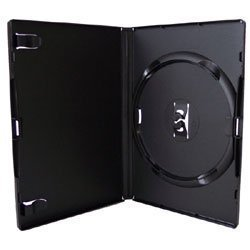 Vision Media - 25 Estuches Amaray Negros Individuales para DVDs/CDs/BLU RAYs