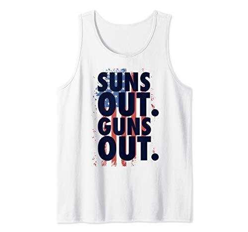 Suns Out Guns Out Tank Top Men Women 4th Of July USA Flag Tank Top (Suns Out Guns Out Shirt Tank Top)