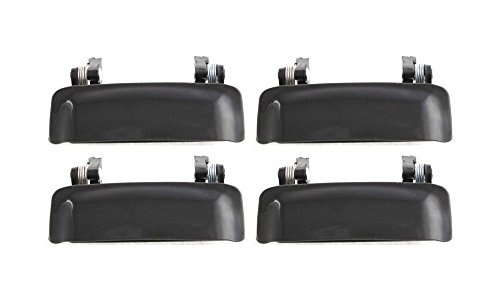 Evan-Fischer EVA18772063818 New Direct Fit Exterior Door Handles for Set of 4 Front and Rear Left and Right Side Plastic Smooth Black Replaces Partslink# FO1310117 (Door Handle Ford Explorer 2002 compare prices)