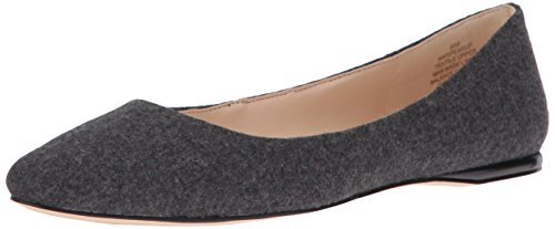 (Nine West Women's Speakup Fabric Pointed Toe Flat, Heathered Wool, 6.5 M US)