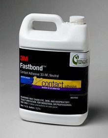 3M Fastbond Contact Adhesive 30NF Neutral, (4 Gallons) by 3M