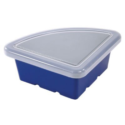 Early Childhood Resource ELR-0803-BL Quarter Circle Shaped Replacement Tray with Lid - Blue
