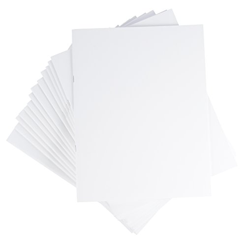 Blank Notebook - 24-Pack Unlined Books, Unruled Plain Travel Journals for Students, School, Children's Writing Books, Creative Class Projects, White, 8.5 x 11 Inches, Letter Sized, 24 Sheets Each by Paper Junkie