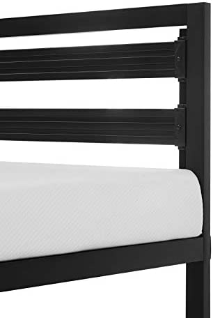 Amazon Basics Metal Bed with Modern Industrial Design Headboard – 14 Inch Height for Under-Bed Storage – Wood Slats – Easy Assemble, Queen 31v55Cks9cL