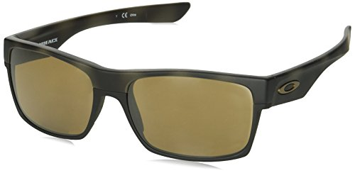 Oakley Men's Injected Man Sunglass Square, OLIVE CAMO, 60 mm (Oakley Two Face)