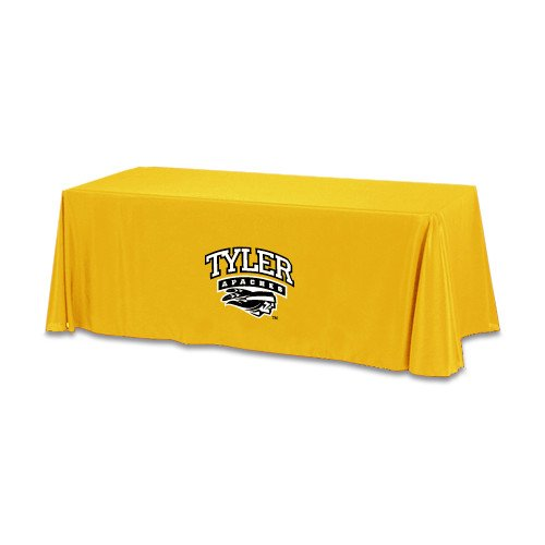 Tyler Junior College Gold 6 foot Table Throw 'Official Logo' by CollegeFanGear