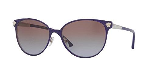 Versace Women's VE2168 Sunglasses Violet/Silver / Violet Gradient Brown - Luxottica Versace
