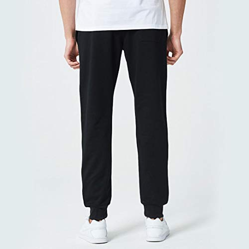 Realdo Clearance Mens Casual Slim Personality Solid Elastic Letter Sports Run Jogger Pants Trousers(X-Large,Black) by Realdo (Image #2)