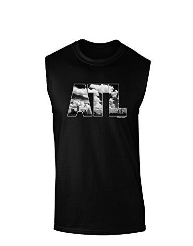 TooLoud ATL Atlanta Text Dark Muscle Shirt - Black - -