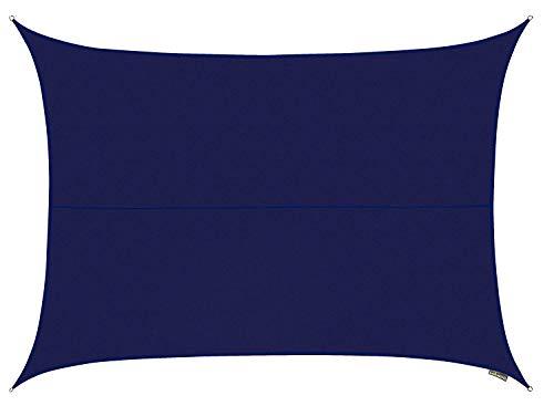Kookaburra Sun Sail Shade Waterproof Blue – 13ft 1 X 9ft 10 Rectangular