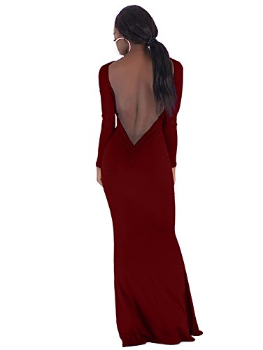 fitted backless mermaid dress - 5
