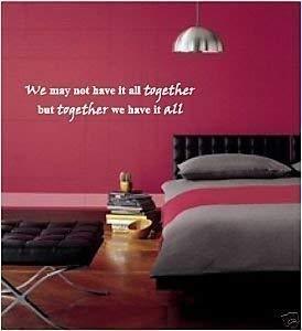 Online Design Adesivo Parete Vinile Together We Hanno Camera da ...