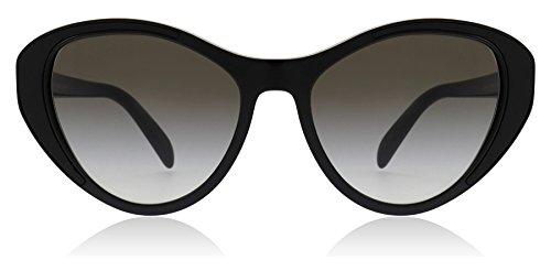 Prada PR14US 1AB0A7 Black PR14US Cats Eyes Sunglasses Lens Category 2 Size 55mm ()