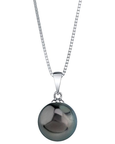 9-10mm Genuine Tahitian South Sea Cultured Pearl Sydney Pendant Necklace for Women