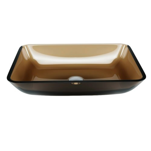 VIGO VG07087 Rectangular Sheer Sepia Glass Vessel Bathroom Sink by VIGO (Image #7)