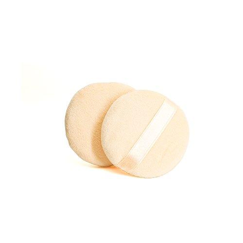 CHOP MALL Hot Sale Beauty Facial Round Shape Flawless Makeup Blender Comestic Sponge Puff for Women Lady - 2pcs Applicator Foundation Velour - Facial Shape Round