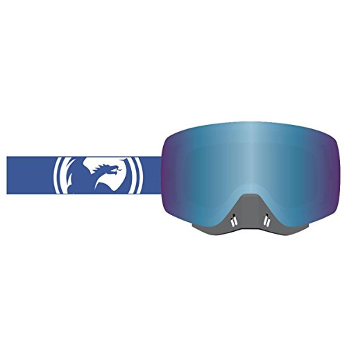 Dragon Alliance Unisex-Adult's Nfxs Goggle (Blue-White Split/Blue Steel Ion Lens, One Size) by Dragon Alliance
