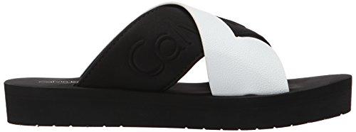 Black White Ivana Women's Calvin Klein Black Flat Sandal FXPPag