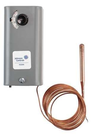 Johnson Controls A19ABB-2C Line Volt Mechanical Thermostat, 120 to 277 VAC
