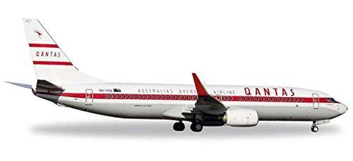 Herpa 529020-Qantas Boeing 737-800Retro Roo II Aircraft