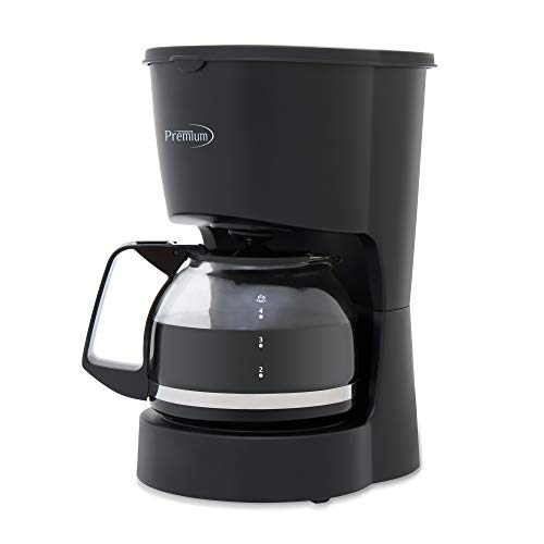 PREMIUM PCM5422B 4 Cup Coffee Maker, Black
