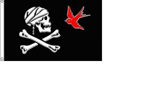 (Pirate Jack Sparrow Flag 3x5 Jolly Roger Ship Banner Skull Crossbones)