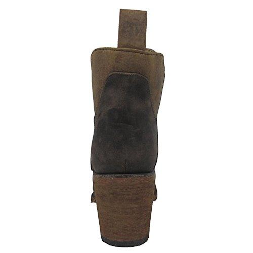 Cirkel G Av Corral Kvinnor Nödställda Choklad Boots L5236