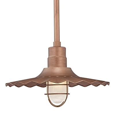 Millennium Lighting RRWS18-CP Stem Hung Radial Wave Shade