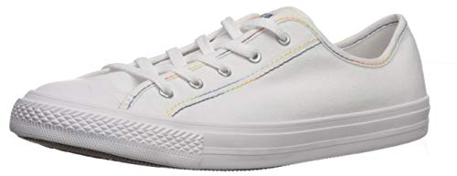 Converse Women's Chuck Taylor All Star Dainty Gs Rainbow Sneaker, Yellow/White, 8 M US
