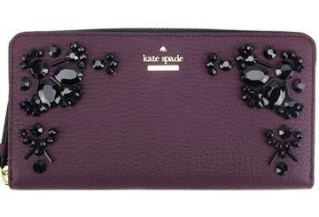 Kate Spade Women's Neda Anderson Way Leather Wallet (Deep Plum)