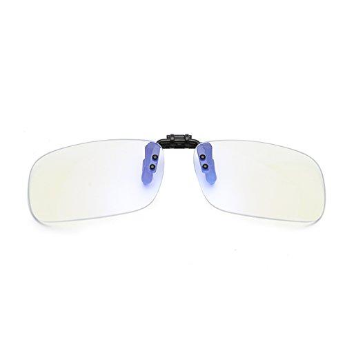 DAUCO Gafas de clip para bloquear la luz azul/Gafas Gaming/Anti fatiga, Anti luz azul,Filtran la luz azul-lentes transparentes