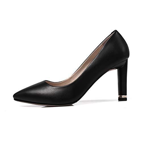 Femme EU AdeeSu Noir 5 Sandales 36 Noir Compensées SDC06017 8nw4qt