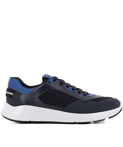 official online clearance visa payment Prada Men's 4E3172108NF0216 Blue Leather Sneakers newest for sale cheap choice cheap sale perfect dvmH5fEX