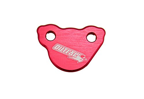 Outlaw Racing Reservoir Brake Fluid Cap - Billet Rear Master Cylinder - For Honda CR CRF Kawasaki KX KXF Suzuki RM RMZ Yamaha YZ YZF WR -Motorcycle Cover -