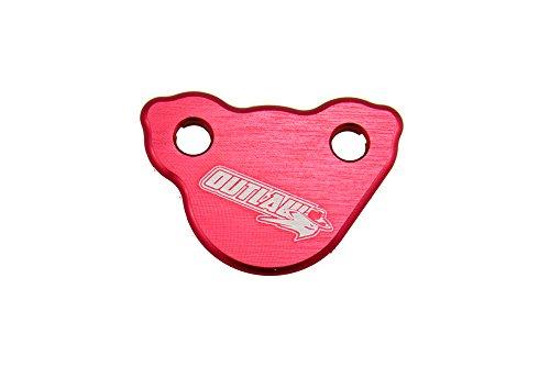 (Outlaw Racing Billet Rear Master Cylinder Reservoir Brake Cap Red CR CRF KX KXF RM RMZ YZ YZF WR)