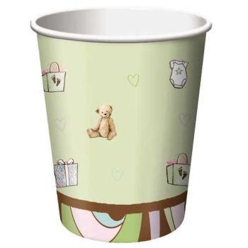 Parenthood Baby Shower (Parenthood Baby Shower 9 oz Hot/Cold Paper Cups 8 Per Pack)