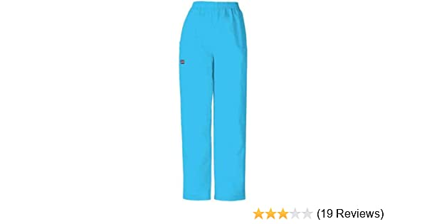 5d8497d99e Amazon.com: Cherokee Womens Natural Rise Tapered Leg Pull On Cargo Pant,  Blue Mist, X-Small: Medical Scrubs Pants: Clothing