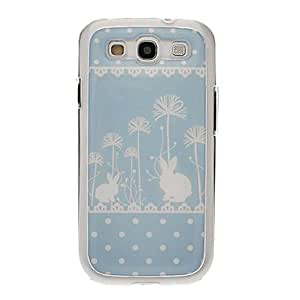 LZX Wave Point Rabbits Drawing Pattern Neutral Stiffiness Silicone Gel Back Case Cover for Samsung Galaxy S3 I9300