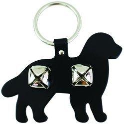 Leather Bernese Bell Door Hanger - BLACK -